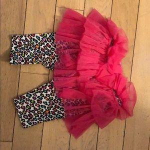 🍎 Mud Pie Cheetah Leggings with Skirt 🍎